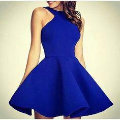 Vestido corto azul rey                                                       …
