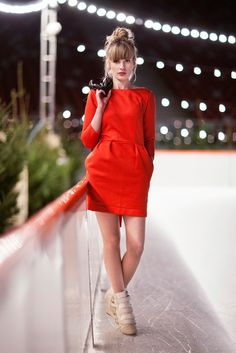 Little red dress by Risk made in Warsaw. #women #fashion #little #red #dress #RiskMadeInWarsaw #polish #designers #style