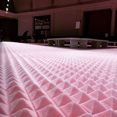 A foam runway for the Mary Katrantzou AW15 show at LFW