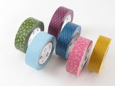 6 style Japan MT Washi Tape sample 50cm per style by shekphoebe