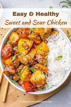 Easy Chicken Dinner Recipes, Best Dinner Recipes, Entree Recipes, Healthy Chicken Recipes, Asian Recipes, Healthy Snacks, Healthy Eating, Raw Recipes, Asian Foods