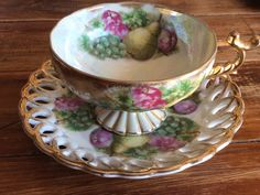 Made In Japan Teacup Saucer Plate Fruit Pedestal Cup Vintage Collectable coffee  | eBay
