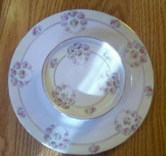 Nippon H P Chip DIP Snack Tray with Attached Plate   eBay