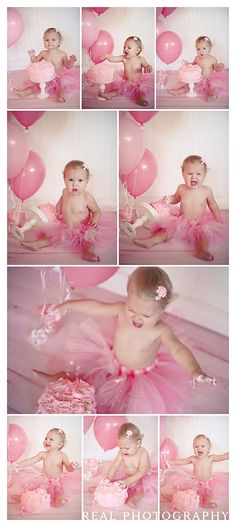 1 year photo shoot cake smash portrait ideas