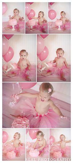 @Jenn L Salahi 1 year photo shoot cake smash portrait ideas. Ha ha!!! Cute & Hilarious!!!