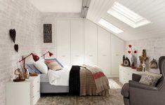 dressing-petite-chambre-sur-mesure-dressing-encastre-blanc-mur-brique dressing pour petite chambre