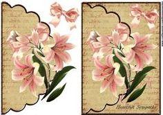 Envelop Vintage Lillies Sympathy