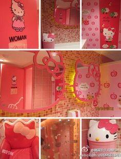 Hello kitty bathroom decor ideas