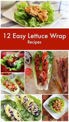 "Diabetic meal ideas ♥ Diabetic meal recipes 12 Easy Lettuce Wrap Recipes ""Yum!"""