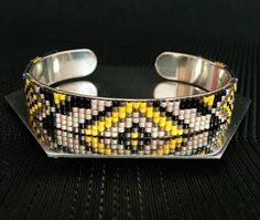Jonc bracelet en perles Miyuki delica tissé / par lesptitskdo