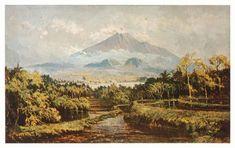 Abdullah Suriosubroto - Pemandangan di Sekitar Gunung Merapi