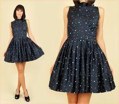 A truly stellar vintage find: a '50s-era galaxy print party dress.