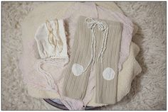 Newborn Baby Boy or Girl Upcycled Pants and Bonnet by KingsCloth, $28.50