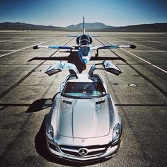 Out of the Mercedes SLS and into the private jet. Luxury Life!