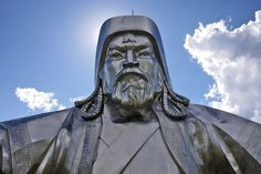 genghis-khan equestrian statue in Mongolia! awesome