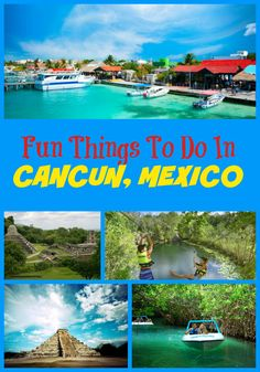 op fun things to do in in Cancun on vacation - Archaeology tours, Mayan Culture, JOYA By Cirque du Soleil, Swimming with dolphins, water sports and more activities Cozumel, Cancun Mexico Vacation, Mexico Resorts, Mexico Travel, Cancun Tours, Cancun Resorts, Inclusive Resorts, Cancun Things To Do, Fun Things