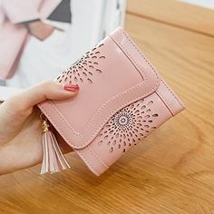 INDRESSME Womens Wallet Bifold Card Holder Wallet Candy Color Elegent Mini Wallet for Girls at Amazon Women's Clothing store: