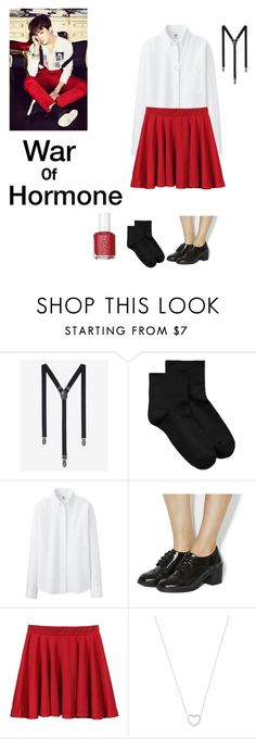 """""""BTS : JIMIN"""" by mayawhooshion ❤ liked on Polyvore featuring Express, Hue, Uniqlo, Office, Tiffany & Co., Essie, kpop, bts, jimin and WarOfHormone"""