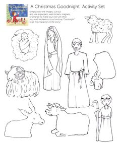 free download nativity puppets... use as puppets, wall stickers, or magnets