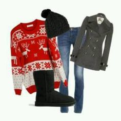 This is the perfect outfit for Christmas! This UGG Classic Short boot is the perfect addition to any holiday outfit.