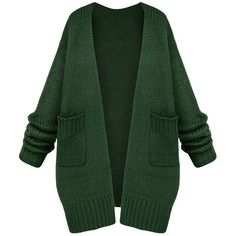 Womens Casual Long Sleeve Cardigan Sweater Coat Green ($48) ❤ liked on Polyvore featuring tops, cardigans, green, green top, long sleeve tops, green cardigan and long sleeve cardigan