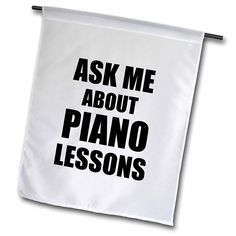 3dRose fl_161896_1 Ask Me About Piano Lessons Self-Promotion Promotional Advertise Advertising Music Teacher Marketing Garden Flag, 12 by 18-Inch -- You can get additional details at the image link.