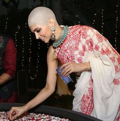 Bald Heads, Sari, Hair Styles, Beauty, Fashion, Saree, Hair Plait Styles, Moda, Fashion Styles