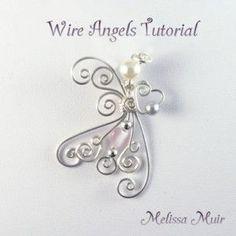 Wire Jewelry Wire Angels diy-jewelry-Not sure that this is a beginner's level project but it never hurts to try it! Wire Wrapped Jewelry, Metal Jewelry, Beaded Jewelry, Wire Crafts, Jewelry Crafts, Wire Jig, Bijoux Fil Aluminium, Diy Schmuck, Bijoux Diy