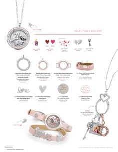 Origami Owl. 2017 Valentine's Day collection! www.CharmingLocketsByAline.OrigamiOwl.com