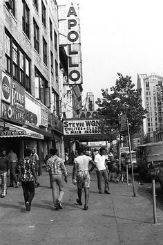 Apollo Theater. Harlem, New York City (1970's)  I think I went to this very show...I definitely saw Stevie Wonder there at the Apollo in  the 70's..