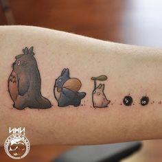 Tatuajes inspirados en el unverso de Hayao Mizayaki
