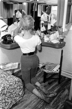 Brigitte Bardot  at the time she was making the film, La Femme et le Pantin, Spain, 1958.  i