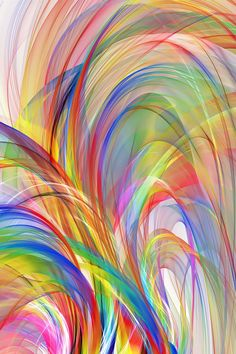 swirls of color abstract background by Alex Butterfly Wallpaper, Colorful Wallpaper, Wallpaper Backgrounds, Colorful Backgrounds, Rainbow Art, Rainbow Colors, Art Grunge, World Of Color, Fractal Art