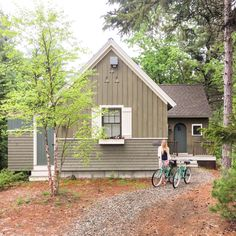 """""""I wasn't sure what to expect from Hidden Pond Resort but it completely exceeded our expectations. Cottage In The Woods, Screened In Porch, Tiny House, Small Houses, Bungalow, Pond, Maine, Exterior, Outdoor Structures"""