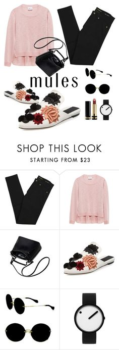 """MULES FOR COMFY"" by ayuhariyani on Polyvore featuring Yves Saint Laurent, Sanayi 313, Miu Miu, Rosendahl and Gucci"