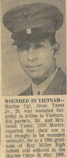 Virtual Vietnam Veterans Wall of Faces   JESUS YANEZ JR   MARINE CORPS