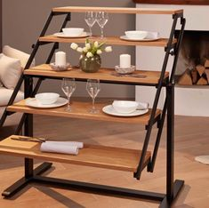 This Amazing Shelf Transforms Into A Dining Table And It's Basically Magic - Convertible Shelf Transforms into Dining Table in Seconds Compact Furniture, Space Saving Furniture, Unique Furniture, Dining Room Furniture, Furniture Decor, Space Saving Dining Table, Table For Small Space, Dining Room Table, Small Spaces