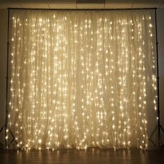 600 Sequential Warm White LED Lights BIG Wedding Party Photography Organza Curtain Backdrop - x Led Curtain Lights, String Lights, Backdrop Lights, Fairy Light Curtain, Curtain Rods, Backdrop Decor, Backdrop Ideas, Booth Ideas, Deco Led