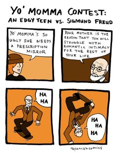 Visit: http://www.all-about-psychology.com/brilliant-sigmund-freud-memes-and-cartoons.html to check out a very funny collection of Sigmund Freud memes and cartoons. #SigmundFreud #psychology #PsychologyHumor