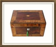 Large Antique Victorian Jewellery And Sewing Box. £325.
