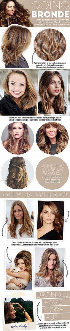 Beautiful Hairs: bronde infographic.