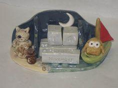 """Owl and the Pussycat"" perpetual calendar £39.00"
