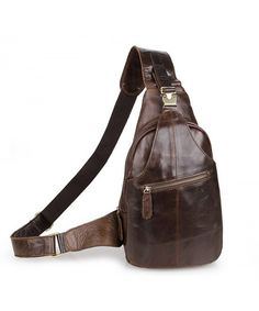 Men s Leather Outdoor Chest Cross Body Bag Fanny Backpack - deep brown -  C912NQZ09UJ. Backpack SaleMessenger BackpackSling BackpackFashion  HandbagsFashion ... 001912b0f6e70