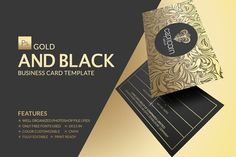 The 451 best business card templates images on pinterest gold and black business card colourmoves