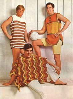 Men's Beachwear from the 1970s - source unknown.