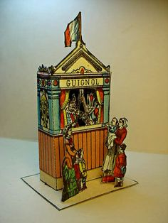 Miniature Paper Punch and Judy Stage Theater Guignol. $49.50, via Etsy.