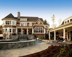 Shingle Style House - traditional - exterior - detroit - by VanBrouck & Associates, Inc. Residential Architect, Architect Design, Custom Home Designs, Custom Homes, Porches, Houses Architecture, Home Designer, Shingle Style Homes, Beach House Plans
