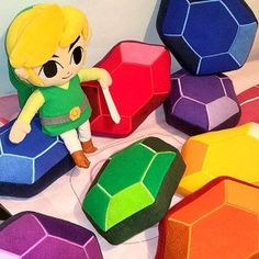 Legend Of Zelda Rupee Plush Pillow Shut Up And Take My Yen : Anime & Gaming Merchandise