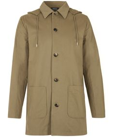 Khaki Mac Parka, A.P.C. Shop the latest men's coats and jackets from the A.P.C. collection online at Liberty.co.uk