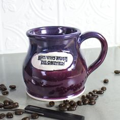 Ceramic Coffee mug Colorful BlueRoomPottery by blueroompottery